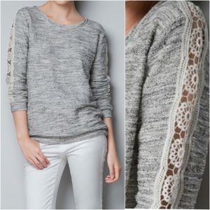 Zara Trafaluc Long Sleeve with Lace Detail